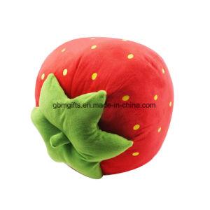 Fruit Plush Toys Stuffed Strawberry Plush Toy Soft Pink Plush Strawberry pictures & photos