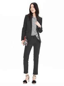Office Lady Black Formal Pants Suit Skirt Suit pictures & photos