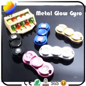 2017 Hot Sell and Creative Metal and ABS Plastic LED Decompression Gyroscope of Fingertip Gyro and Hand Spinner and Fidget Spinner for Promotional Toys pictures & photos