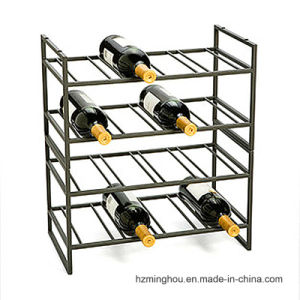 4 Layer Delicate Design Metal Display Rack for Wine Storage pictures & photos