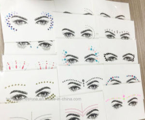 Diamond Rhinestone Stickers Eyeliner Rhinestone Brow Stickers (TS-572) pictures & photos