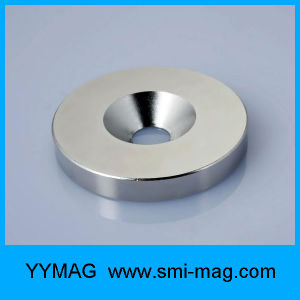 High Qulaity N35 NdFeB Magnets with Countersink Holes for Sale pictures & photos