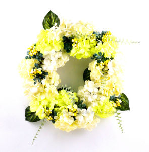 Hydrangea Real Wood Wreath Artificial Vivid Flower for Decoration of Any Public Places pictures & photos