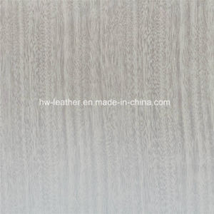 Synthetic Wood Grain PU Leather for Cases Hx-W1701 pictures & photos