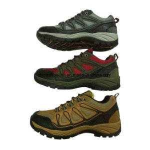 Hot Men Leather Hiking Trekking Shoes pictures & photos