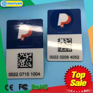 EPC Gen2 Alien 9662 H3 UHF Windshield RFID Parking Card with QR code pictures & photos
