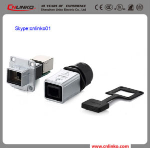 RJ45 8p8c Waterproof Connector RJ45 Adapter Connector Plug and Socket with Dust Cover pictures & photos