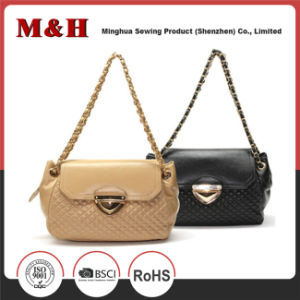 Exquisite Metal Chain PU Leather Designer Ladies Handbags pictures & photos