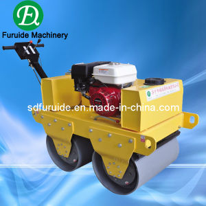 China 2 Ton Gasoline Double Drum Mini Hand Roller