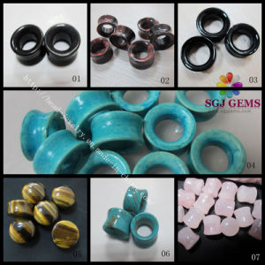 Double Flare Ear Plugs/Semi Precious Stone Body Piercing Jewellery, Fashion Body Jewellery