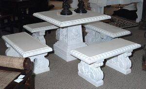 Garden Furniture Stone Table Bench