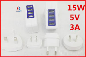 4 Ports USB Wall Charger World Plug pictures & photos