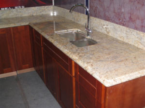 Giallo Diamond Granite Kitchen/Bathroom Vanity Top Worktop Countertop pictures & photos