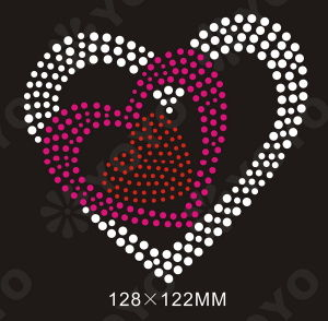 Hot Fix Rhinestone Motif---Heart (YO-H01)