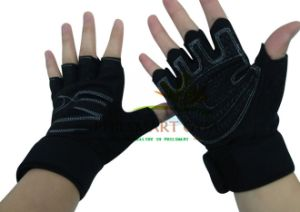 Fitness Gym Wristwrap Lifting Gloves (PHH-990029) pictures & photos
