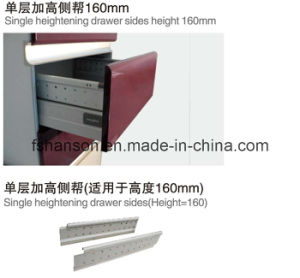 Single Layer Heightening Drawer Sides for Height 160mm (HS200.201)