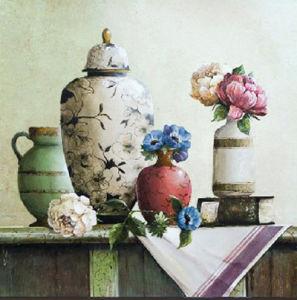 Framed Oil Painting Art - Hand Brush Stroke Still Life Bottle Pottery Vase