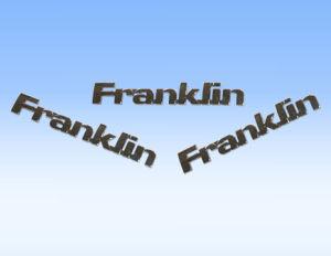 Franklin Auto Emblems, Bright Chrome pictures & photos