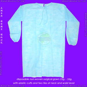 Elastic Cuff Surgical/Visitor/Isolation Gown pictures & photos
