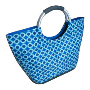 Polyester Shopper Bag with Aluminum Handle pictures & photos