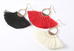 New Fashion Tassel Hoop Boho Chic Earrings pictures & photos