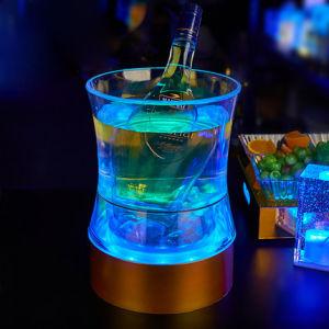 Creative Bar KTV Waist Shaped LED Luminous Acrylic Ice Bucket pictures & photos