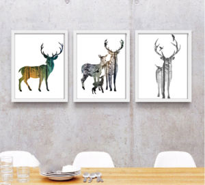 Decorative Wall Elk Painting Porch Painting Modern Minimalist Bedroom Mural Painting pictures & photos