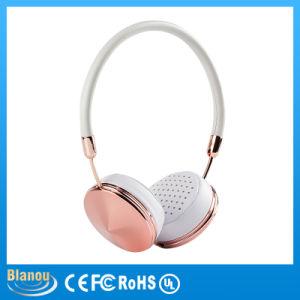 Beautiful Fashion Rose Gold Diamond Portable Foldable Girl on Ear Headphone (BH868)