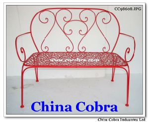 Metal Bench for Home Garden and Park Use (CC98608)