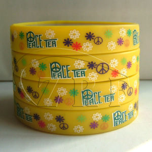 Screen Printed Silicone Wristband (SPSB-014) pictures & photos