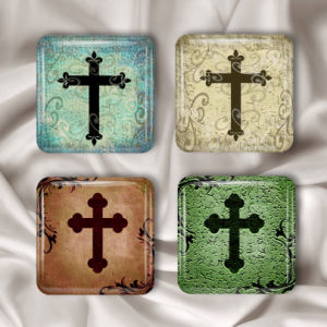 Square Glass Magnets