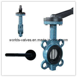 Aluminum Lever Wafer Butterfly Valve with CE ISO Wras Certificates (WD7A1X-10/16)