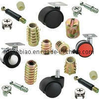 Factory Direct Zinc Plated Wood Insert Nut (KB-022)