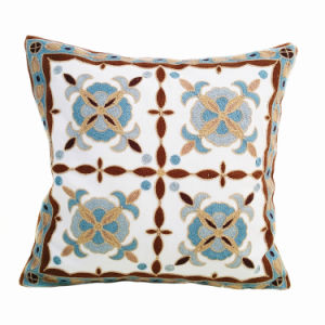 Cord Embrodiery Decorative Pillow Case (FD0927D)