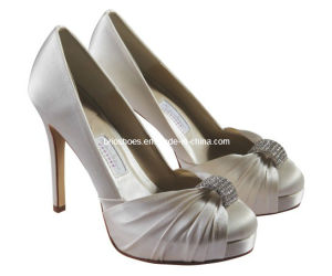 Attractive High Heel Bridal Shoes with Peeptoes