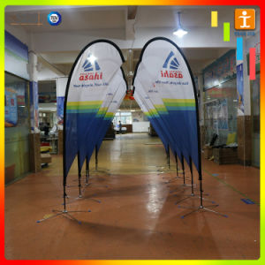 Fiberglass Pole Promotion Advertising Printing Teardrop Feather Flying Beach Flag pictures & photos
