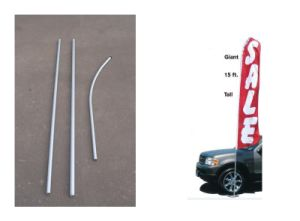 Aluminum Swooper Flagpole pictures & photos