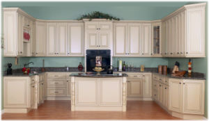 Glazed Maple Solid Wood Island Base Cabinets pictures & photos