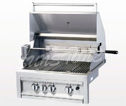 Gas BBQ Grill With Infrared Back Burner
