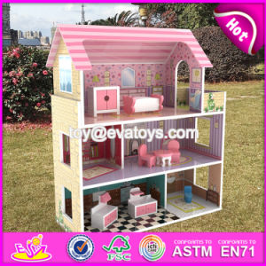 New Design 3 Floor Toddlers Pretend Toys Wooden Miniatures and Dollhouse W06A234 pictures & photos