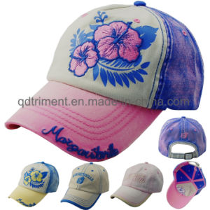 Monkey Washed Thick Stitches Print Embroidery Baseball Cap (TMB0322) pictures & photos