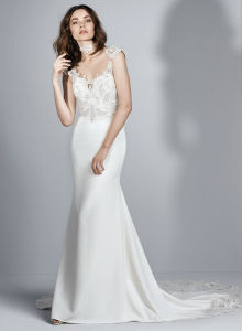 2017 Full Lace Wedding Dresses Country Style Pluging V-Neck Cap Sleeves Keyhole Back Vintage Custom Made Bridal Gowns pictures & photos