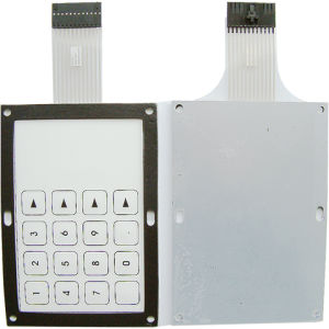 Membrane Keypad Assembled With Aluminum Hardware and Stand-off