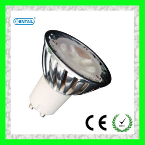 GU10 LED Lamp with Chormed Aluminum Housing Body