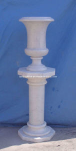 Marble Urn on Column, Stone Pot (SM178) pictures & photos
