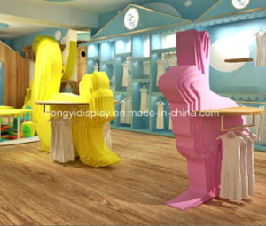 High Quality Wood Kids Shoes Shelf for Children Shoes Shop Furniture pictures & photos
