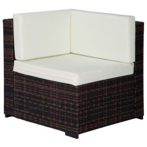 Well Furnir Outdoor PE Rattan 7 Piece Sectional Seating Group with Cushions WF-17021 pictures & photos