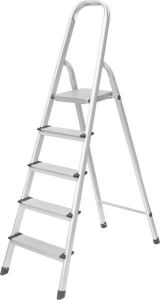 Household 5 Step Ladder with En 131 Approved and Wide Steps pictures & photos