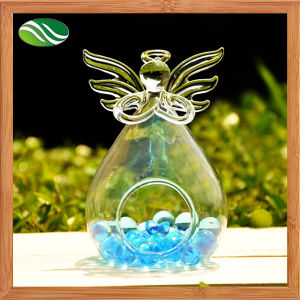 Angel Shape Clear Glass Flower Vase for Table Decoration (EB-B-4585) pictures & photos