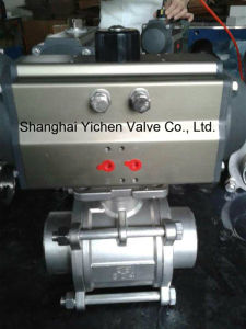 3 PC Pneumatic Thread Hard Seated Ball Valve (Q611H) pictures & photos